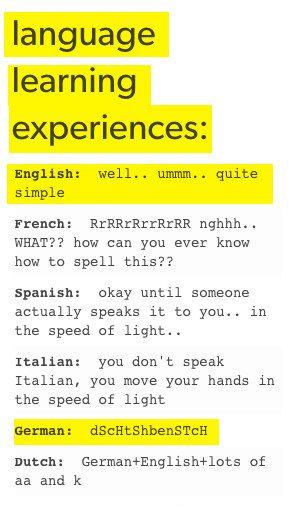 Und immer wenn du denkst, du hast Deutsch verstanden …