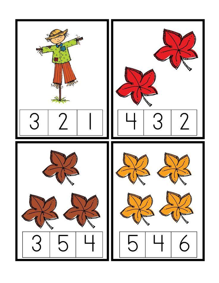 fall preschool worksheets | Preschool Printables: Autumn | Matemàtiques