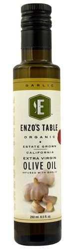 Enzo Olive Oil Co. Enzo's Table Organic Extra Virgin Olive Oil Garlic