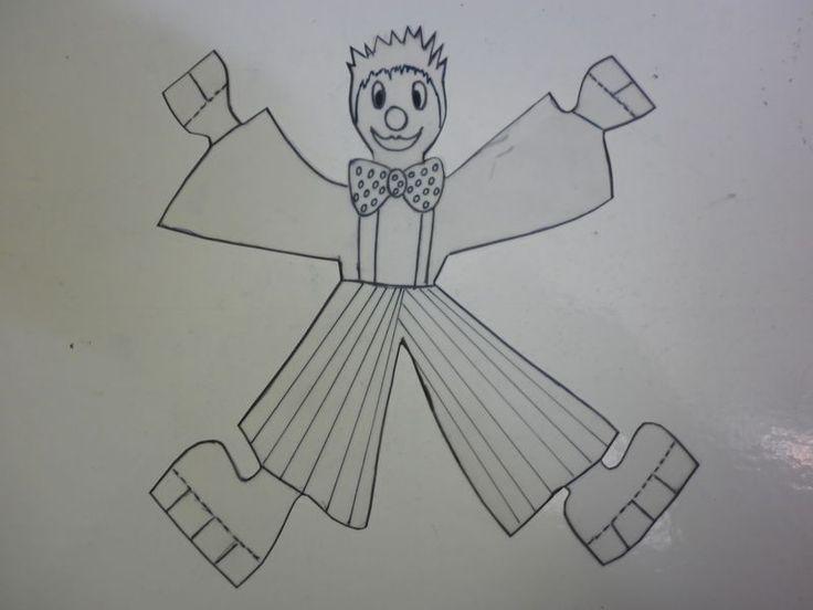 P1000081 modèle de clown a imprimer et a placer dans un rouleau de carton pour faire rouler