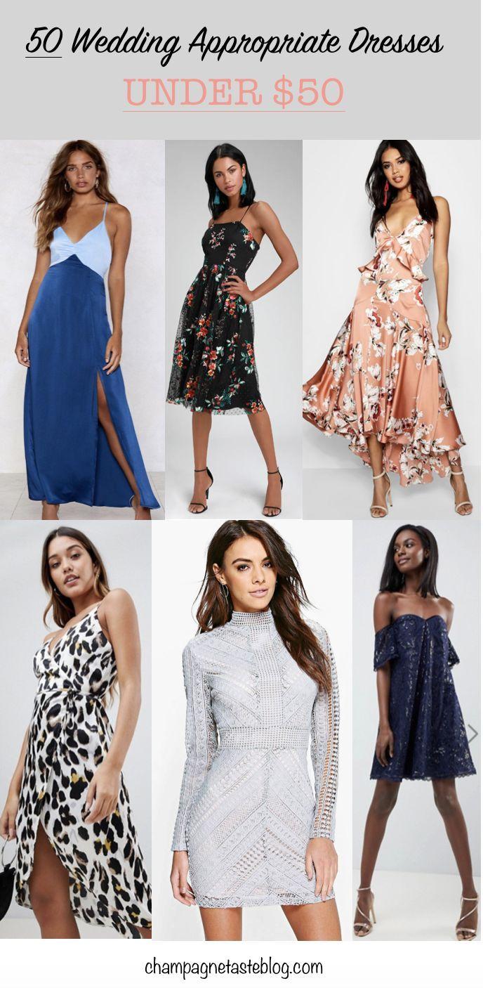 50 Spring And Summer Wedding Dresses Under 50 Summer Wedding Dress Wedding Guest Dress Guest Dresses [ 1406 x 688 Pixel ]