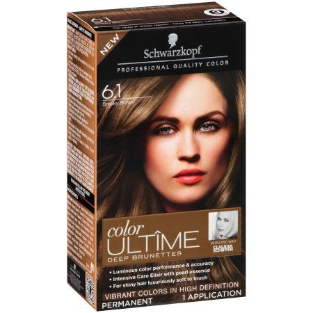 Schwarzkopf Color Ultime Deep Brunettes Hair Coloring Kit, 6.1 Smoky Brown
