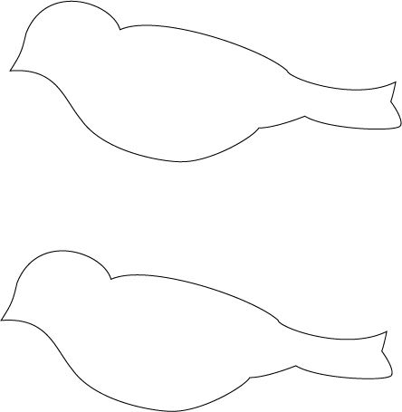 Paper Bird Template | out the 3 bird shapes. Using the white glue, glue the 2 colored birds ...