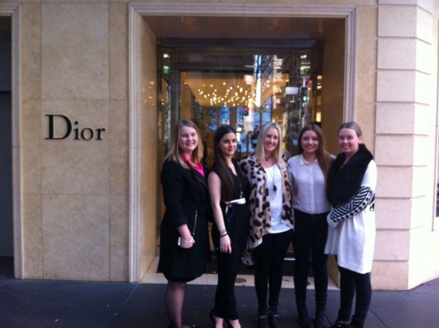 Students at the Dior Boutique in Sydney