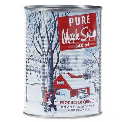 Quebecois Maple Syrup Can. Its design and contents are as Canadian as it gets. #tasteslikeCanada
