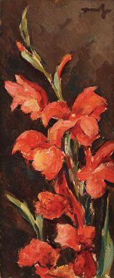 N.Tonitza, Gladiole rosii