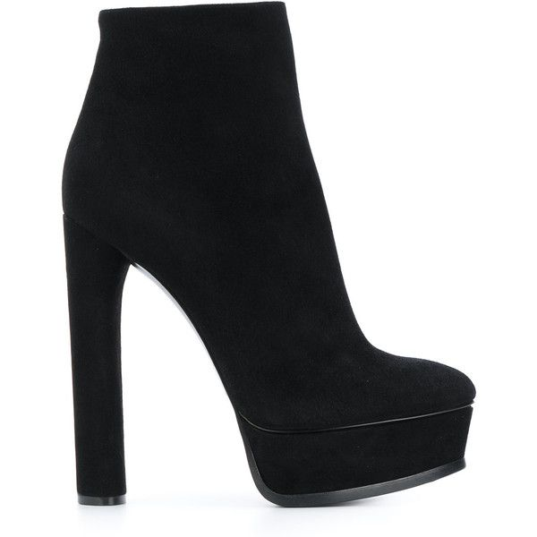 Casadei platform ankle boots (£860) ❤ liked on Polyvore featuring shoes, boots, ankle booties, black, heels, black leather bootie, ankle boots, black ankle booties, black high heel booties and black leather booties