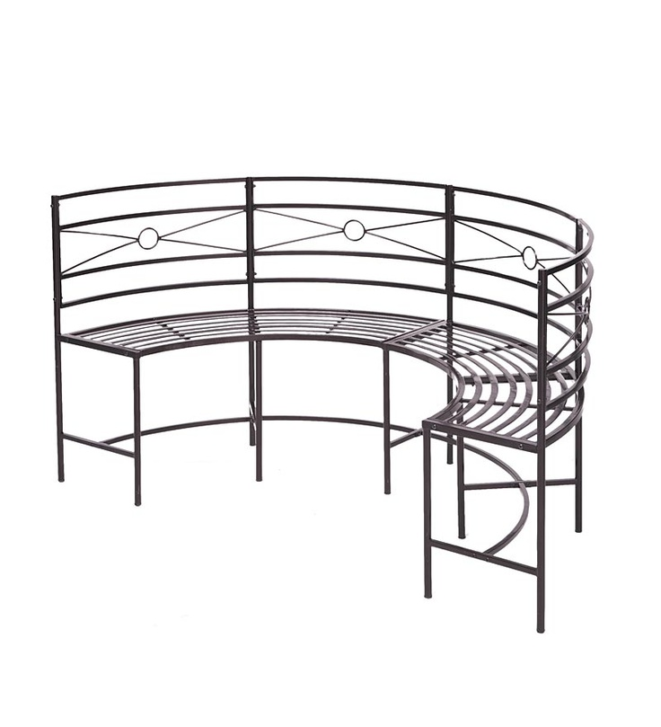 Curved Metal Garden Bench - Plow & Hearth