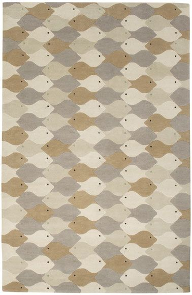 The late Eva Zeisel's Rug makes me smile.
