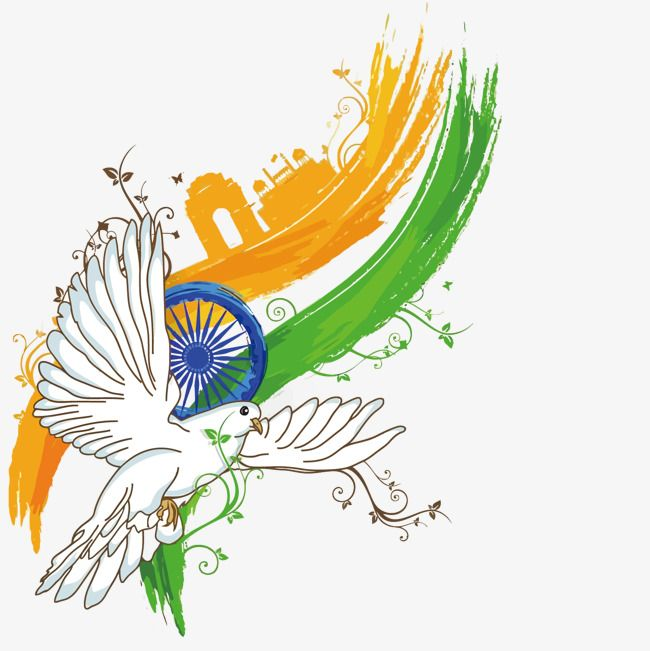 Vector Dove India Independence Day Png And Vector Independence Day Drawing India Painting Independence Day India