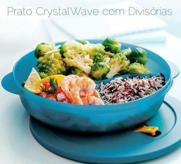 Prato Crystal com Divisórias – Aquecer no Micro-ondas sem problemas