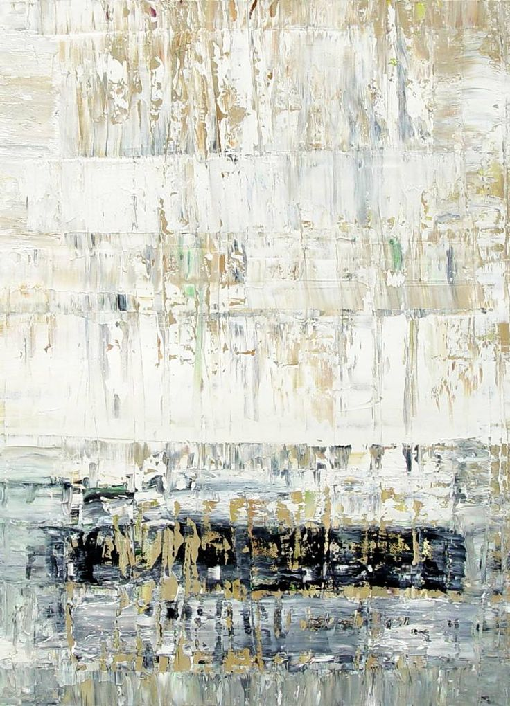 Buy VH214, a Oil on Canvas by Radek Smach from Czech Republic. It portrays: Abstract, relevant to: black, white, winter, richter, contemporary, expressionism, abstract, grey, layered, minimalism, modern Original abstract layered painting on canvas.  Painted on the sheet of canvas. Framing required.