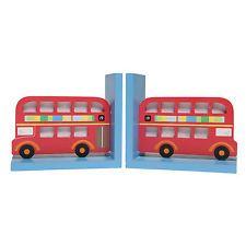 Double Decker Bus Wooden Bookends - Gift / Childs Bedroom