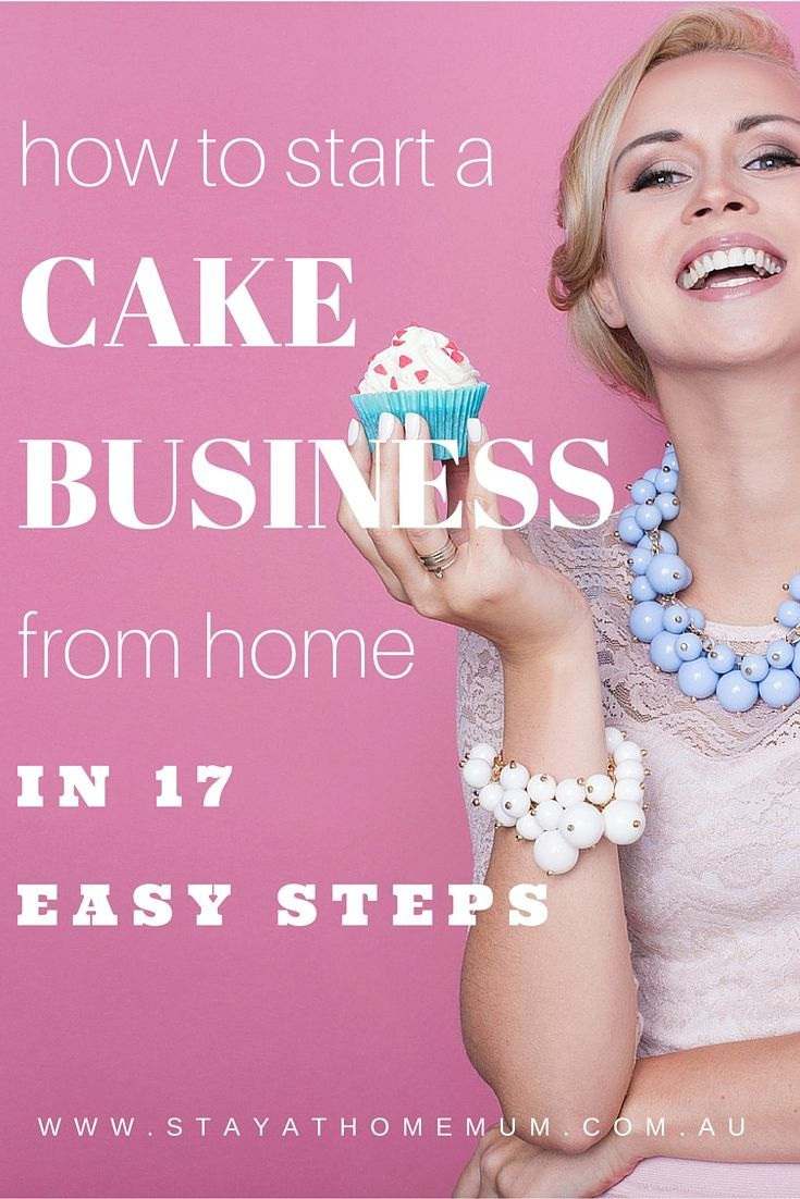 How To Start A Cake Business From Home   Stay At Home Mum