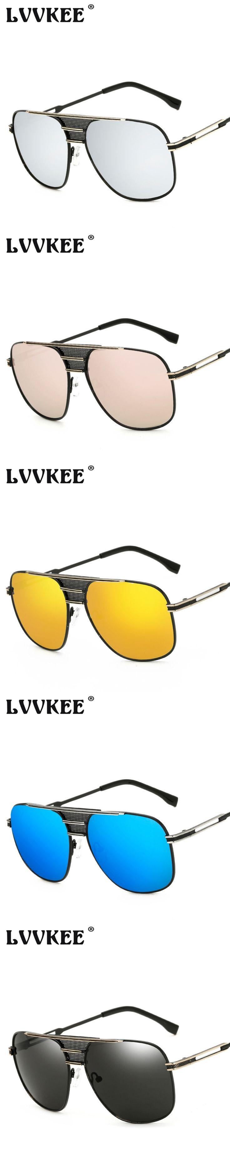 Hot sales 2017 Luxury Brand Design Oversized Women Sunglasses Vintage Metal Frame Men Sun Glasses uv400 Oculos De Sol Feminino