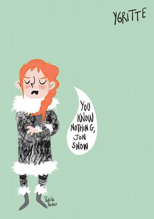 Ygritte Cartoon Illustrations by Pedrita Parker