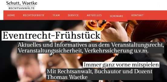 Heute erstklassige Informationen zum Veranstaltungsrecht erhalten, beim 1. Karlsruher Eventrecht-Frühstück der Rechtsanwälte Schutt und Waetke. Vielen herzlichen Dank! :-)