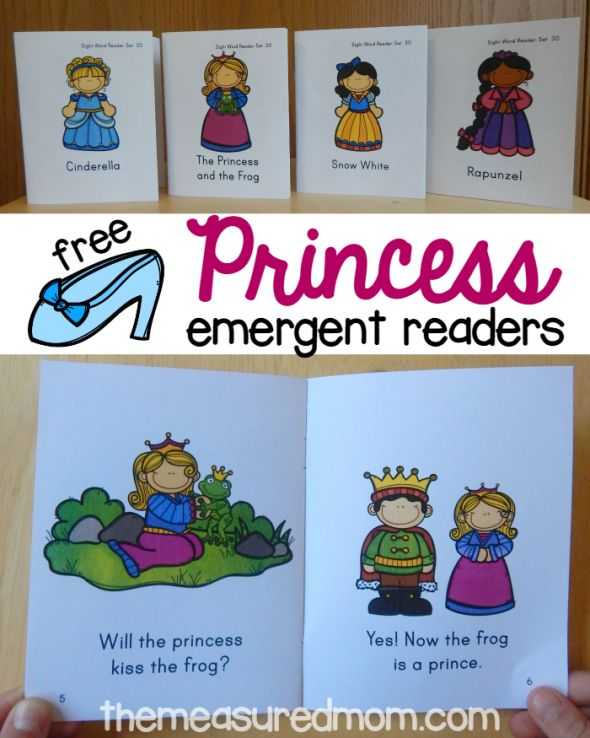 The Measured Mom has a FREE set of Princess Emergent Readers. This set includes 4 new readers.     Click here to browse through more read