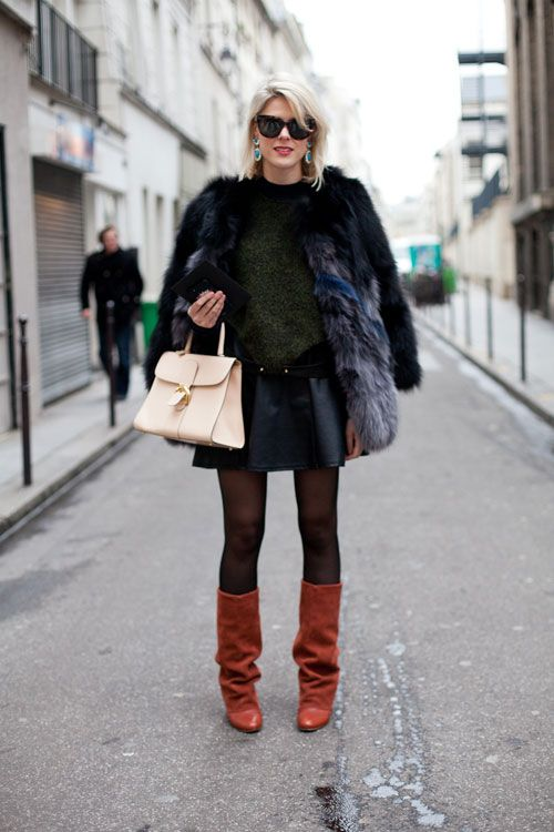 Adding a brown boot changes the whole vibe of this layered look.