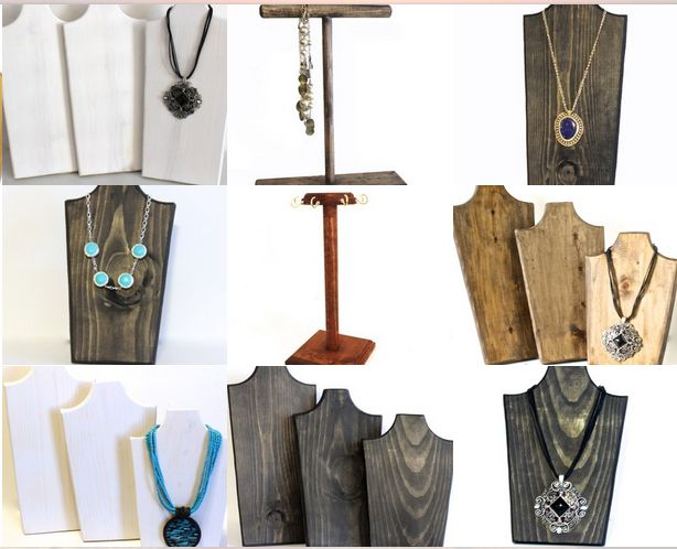 ArrayandDisplay make wood jewelry displays, cookbook holders, cutting boards, book displays, wooden crosses and much more.