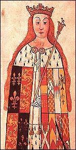 Lady Anne Neville (11 June 1456 – 16 March 1485) was Princess of Wales as the wife of Edward of Westminster and Queen of England as the consort of King Richard III. She held the latter title for less than two years, from 26 June 1483 until her death in March 1485. She had just one son, Edward, whom she outlived.