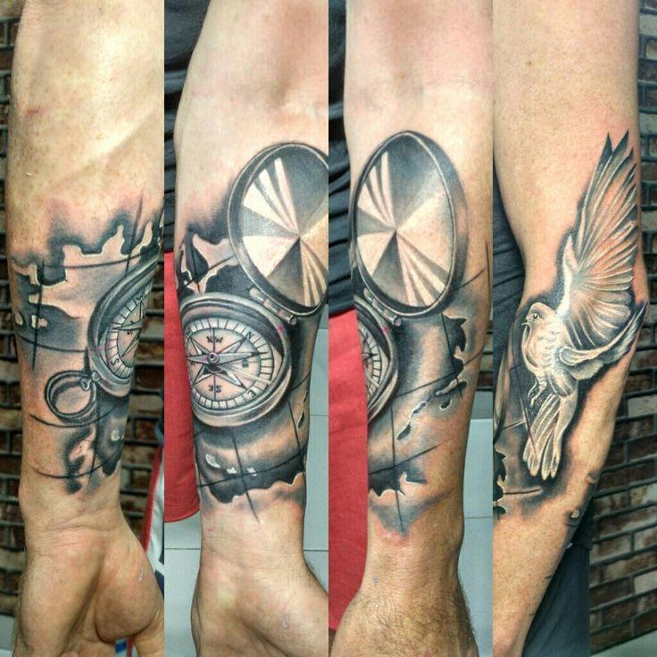 day art tattoo#dove#compas#indonesiasubculture#bali#