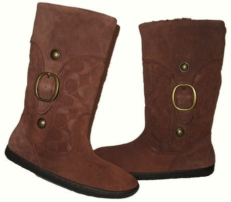 Available @ TrendTrunk.com COACH MEYER MOCHA SUEDE MID CALF BOOTS SHEARLING LINED Boots size 7 1/2 Boots. By COACH MEYER MOCHA SUEDE MID CALF BOOTS SHEARLING LINED Boots size 7 1/2. Only $70.50!