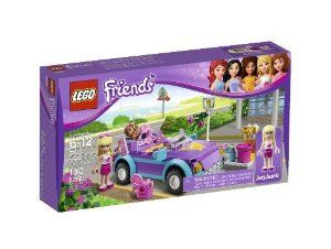 Includes Stephanie Mini-Doll Figure And Dog Coco - LEGO Friends Stephanie's Cool Convertible 3183 by LEGO. $32.99. Wash the Cool Convertible with the car wash that includes water tap, bucket, brush, bench and street lamp; Includes Stephanie mini-doll figure and dog Coco; Lego Friends pieces are fully compatible with all Lego System bricks; Collect all of the Lego Friends sets for a whole world of Lego Friends fun; Accessories include mp3 player, purse and hair accessory pack...
