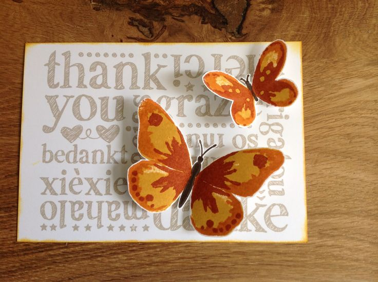 Watercolor Wings, A world of thanks, Stampin'Up