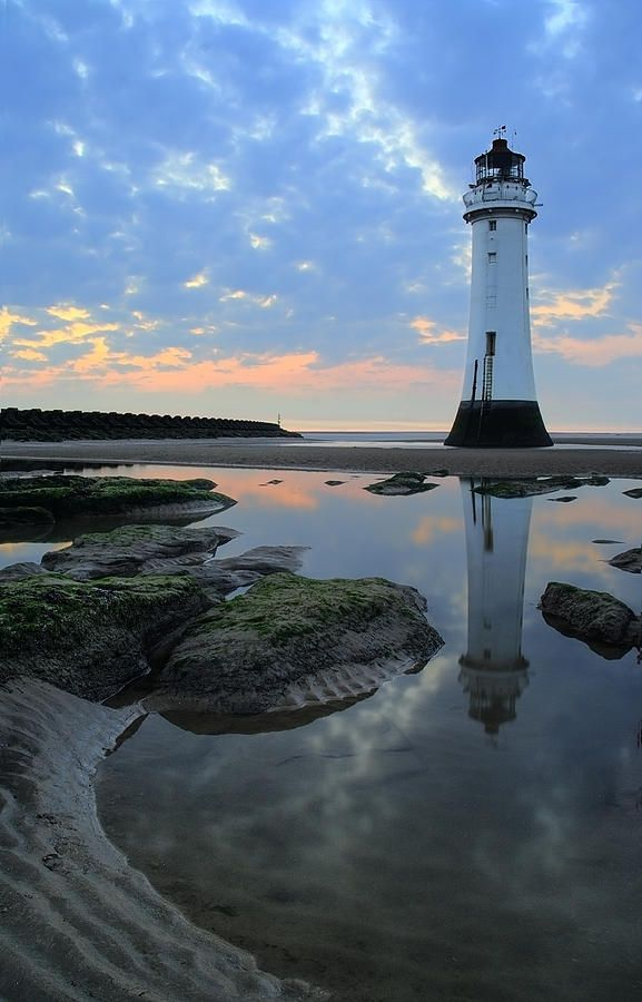 "*Perch Rock Lighthouse at New Brighton on ""The Wirral"" in the United Kingdom near Liverpool."