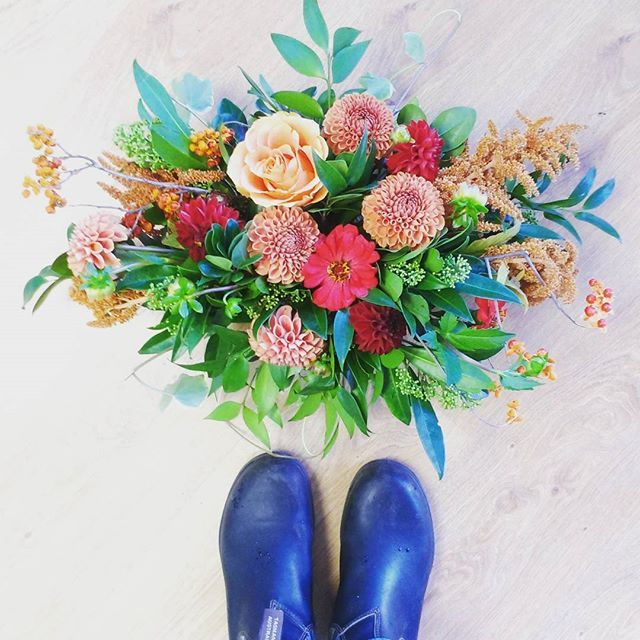 Falling in love with fall again. flowers by periwinkle flowers in toronto