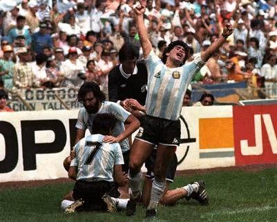 México '86: a 30 años, 30 historias   El desahogo de Maradona después del gol de Burru en la final.