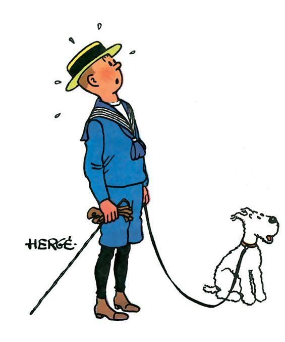Tintin en vacances…
