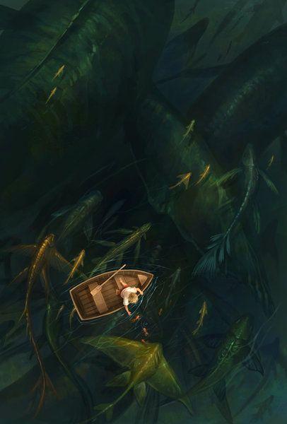 fishing by sandara (print image)