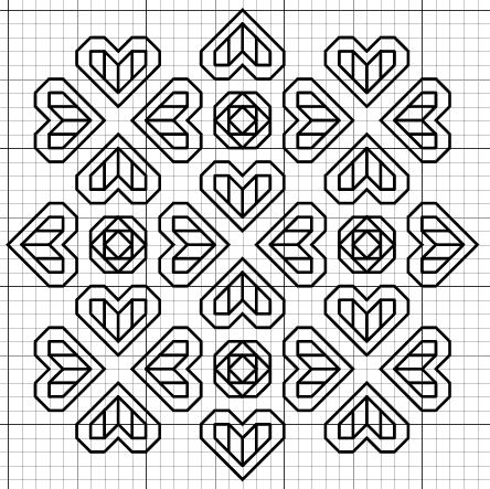 imaginesque free blackwork pattern