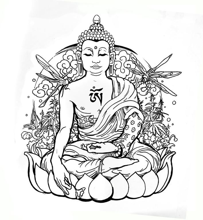 coloring pages buddah - photo#12