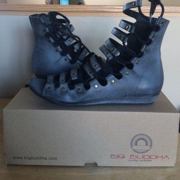 Gladiator sandals Distressed grey gladiator sandals Big Buddha Shoes Sandals