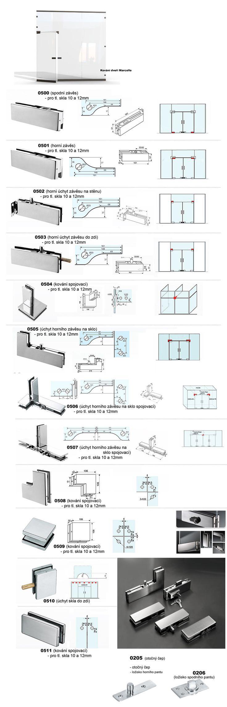 Otevíravý systém skleněných celoskleněných dveří pro interiér, ale i exteriér např. dveře do prodejen a jiné prostory. Dveře Marcello je možno