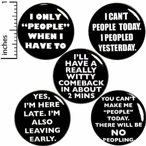 b4d0aea8d7d20 Details about Funny Introvert Button 5 Pack Random Humor Sarcastic ...