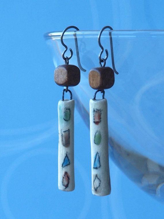geometry earrings chic geometry earrings by HandmadeEarringsUk