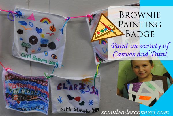 1000 images about brownie painting badge ideas on for Arts and crafts for brownies