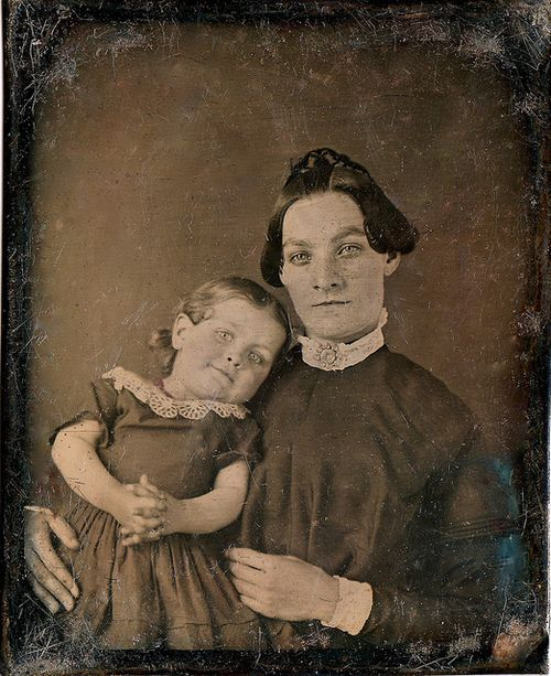 revoltedstates:  Mama Loves Me, 1/6th-Plate Daguerreotype, Circa 1850 by lisby1 on Flickr.
