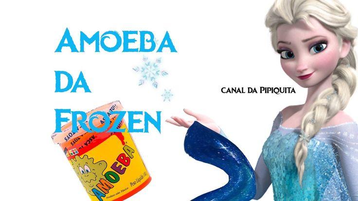 Como fazer AMOEBA com cola branca e detergente de lavar roupas da Frozen.