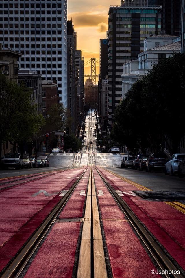 California Street Sunrise San Francisco In 2019 Wallpaper