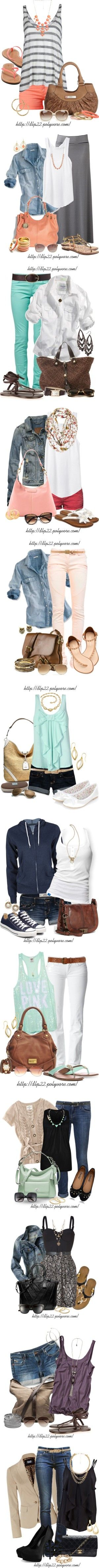Spring and summer outfits - love all of these