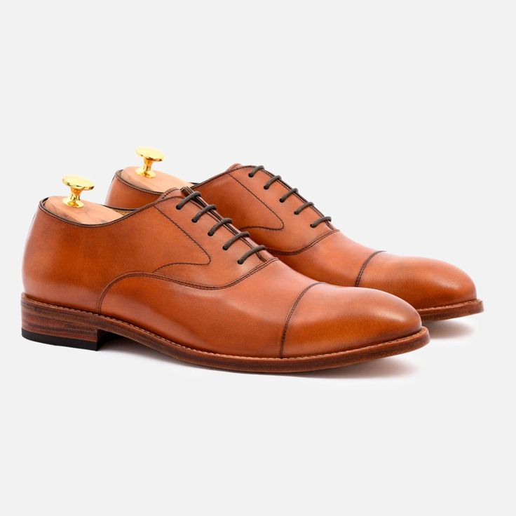 Dean Oxford - Calfskin Leather - Tan