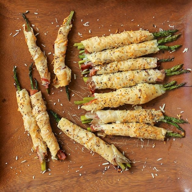 Parmesan Asparagus Prosciutto Phyllo Spears Appetizer | Makobi Scribe