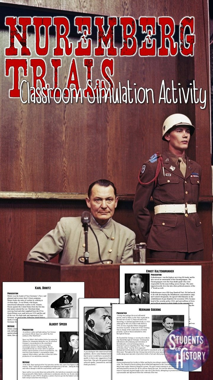 Great Nuremberg Trials Activity for a unit on the Holocaust!