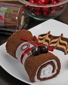 Coffee White Swiss Roll Cake Bluerainbowdesign