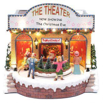 Teatro natalizio musicale con luci 25x25x20 cm